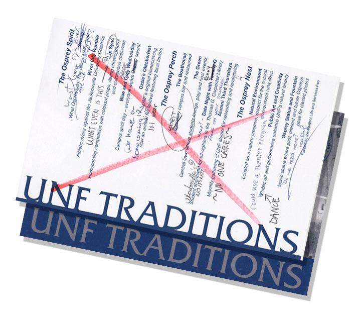 The UNF Traditions released by the Traditions Project masks the real campus culture of commuters, apathetic students, and UF rejects.