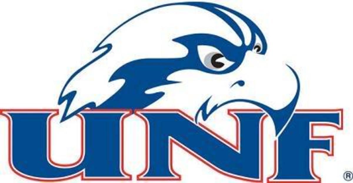 North Florida's previous logo of the Osprey head.