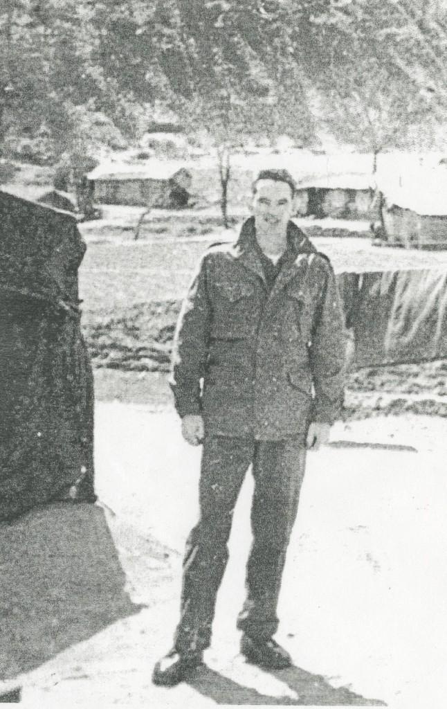 Dale Baker as a soldier in Korea. Photo courtesy Dale Baker