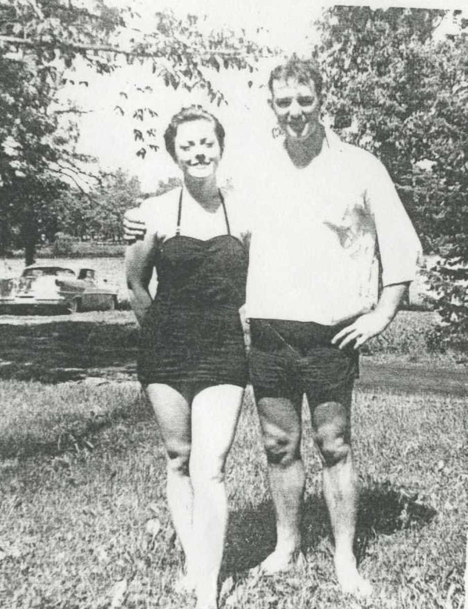 Dale Baker with wife, Minniebell. Photo courtesy