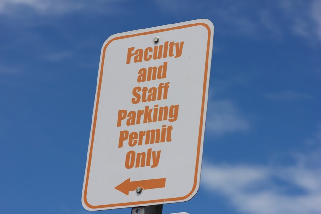 There are currently 80 people on the wait list for faculty and staff permits.Photo by Blake Middleton