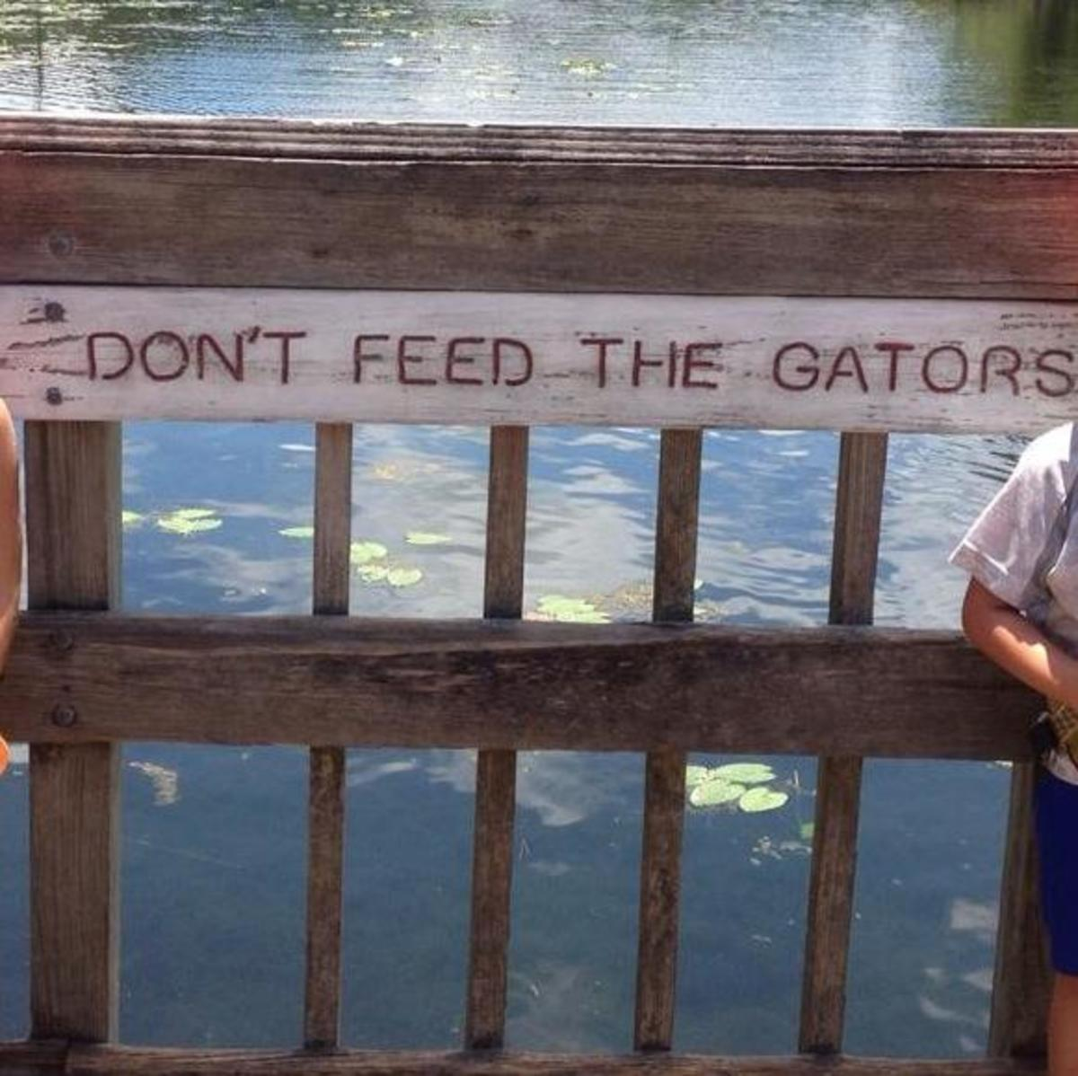 UNF's first forest ranger, John Golden, handmade this sign, which was stolen from the J.M. Golden Environmental Education Pavilion. Photo courtesy Amy Costa