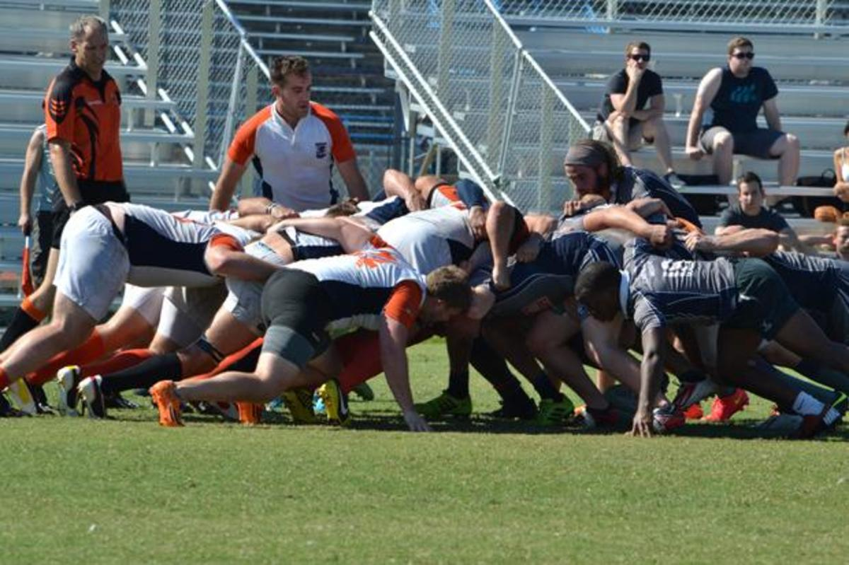 This scrum is going in favor of the Deadbirds.  Photo by Jordan Ferrell