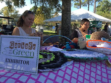 Casey Zender and Eleanor Legaspi of the Knitting Ospreys, who were one of the vendors at this year's Garbage on the Green.