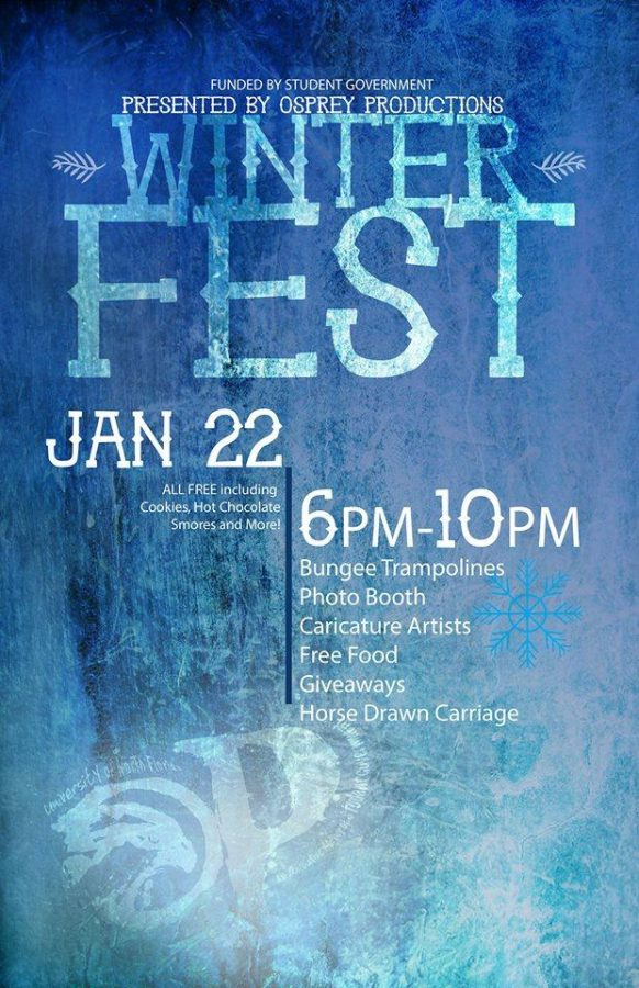 Osprey Production's fourth annual Winter Fest will be held tomorrow at the Student Union Plaza.   Photo courtesy Facebook