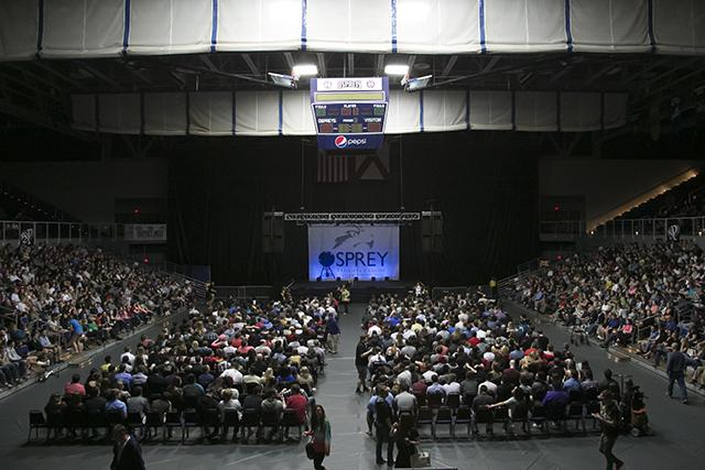 1.UNF Homecoming week kicked off with a comedy show featuring Jim Gaffigan on Feb. 22.   Photo by Morgan Purvis