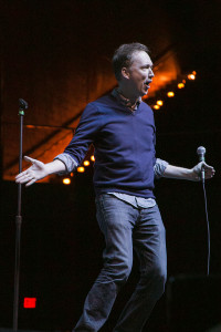 Tom Shillue, who has made appearances on shows such as Late Night with Jimmy Fallon and The Daily Show, opened for Gaffigan.   Photo by Morgan Purvis