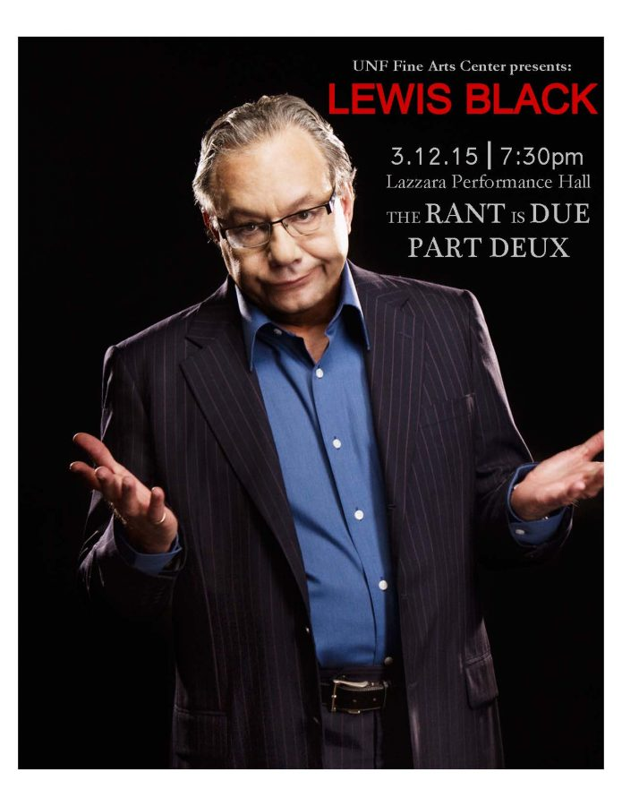 Forget Black Friday: social critic Lewis Black to perform at UNF Thursday Mar. 12