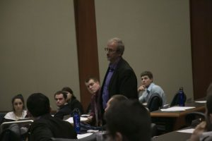Dr. Thornton was invited back into the meeting where he was given three minutes to speak.   Photo by Morgan Purvis