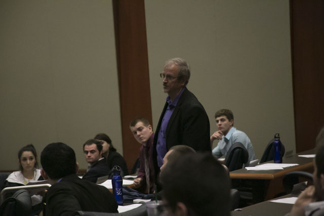 Senate meeting sparks reaction from professor