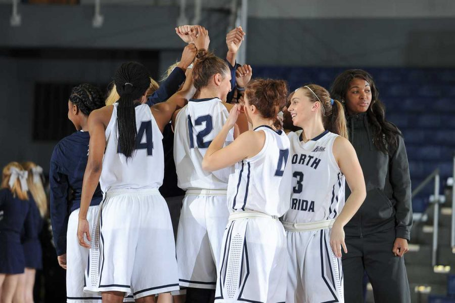 The lady Ospreys lost to USC Upstate in the A-Sun quarterfinals.  Photo courtesy of UNF Photos