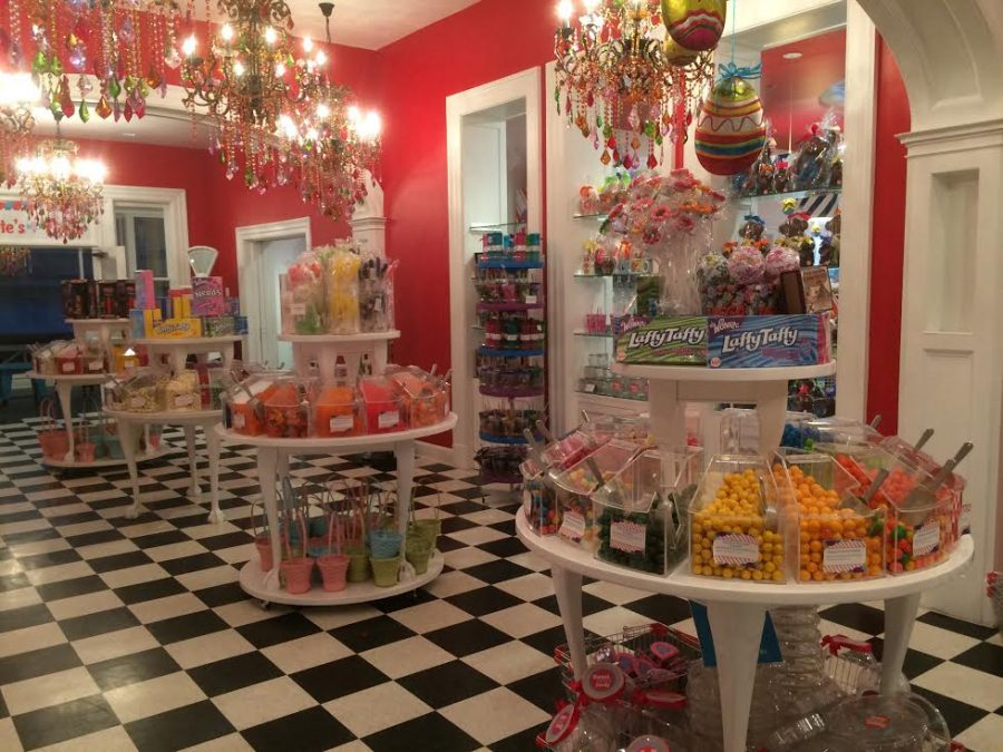 Bright colored candies fill this second-floor room at Sweet Pete's. Photo by Justin Belichis