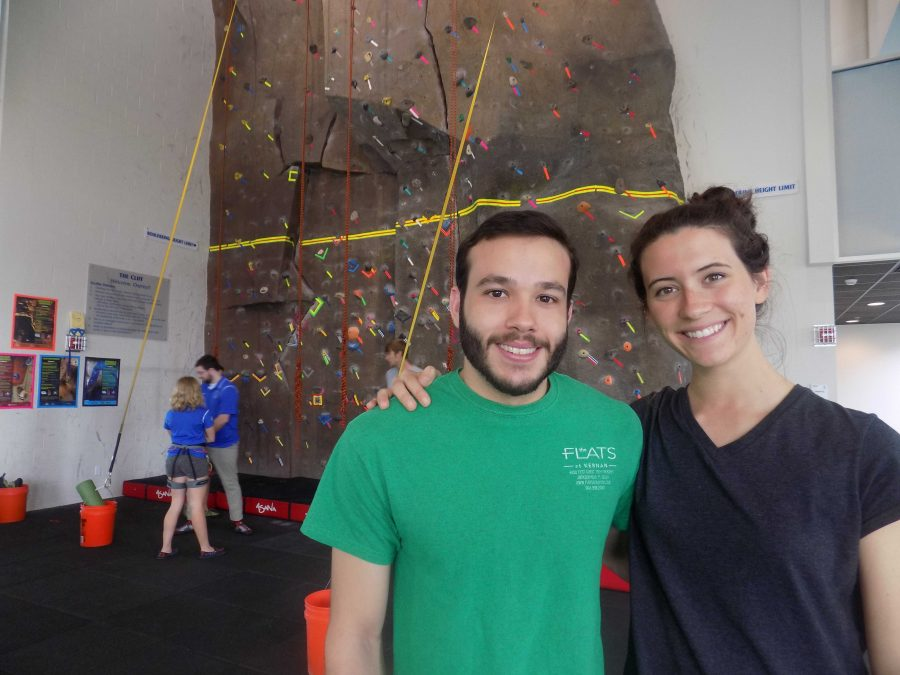 UNF Climbing Team President Jon Albino-Lopez and Top Female Climber Lexi Kimes look forward to putting UNF climbers on the map.