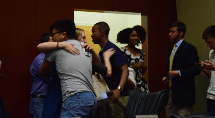 The United Party erupted in celebration after the Elections Commissioner announced the winners.Photo by Christian Ayers