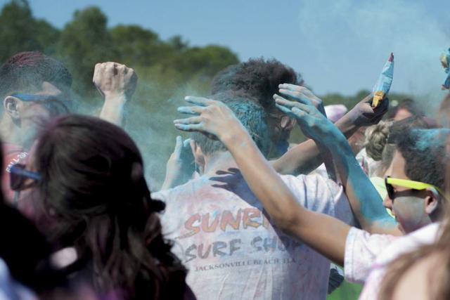 Celebrating Holi on Campus