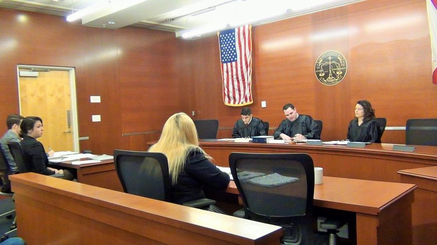 Student Government's Supreme Court met to discuss possible illegal campaigning on March 12. Photo by Cameron Garrett