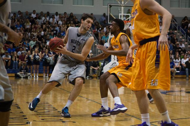 Beau Beech (2) pushes around the defense. Photo by Camille Shaw