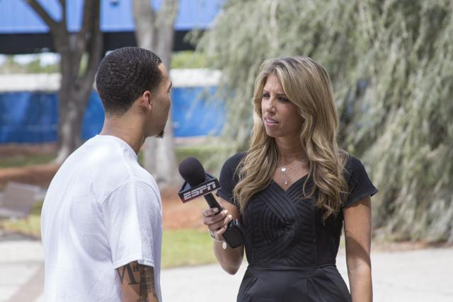 "Sara Walsh interviewed Dallas Moore outside of the arena to get his thoughts on the team's trip to the ""Big Dance."""