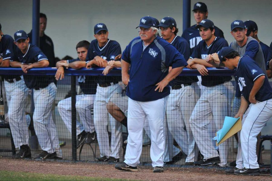 UNF Head Coach Smoke Laval is just the second baseball coach in North Florida's history, replacing 23-year veteran Dusty Rhodes in 2010.Photo by Joslyn Simmons