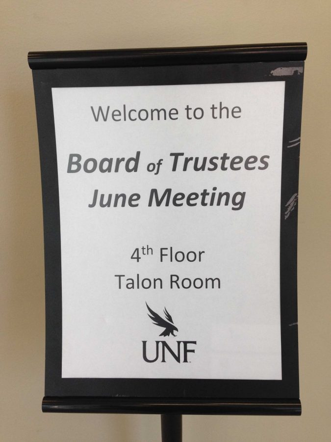 The last Board of Trustee's meeting for the fiscal year was held on the top floor of Osprey Commons.  Photo by Kalee Ball