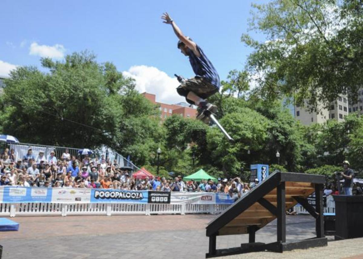 Extreme pogo stick competition leaps into downtown Jacksonville