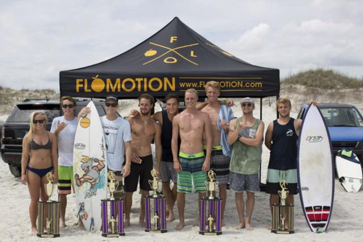 The UNF surf team.   Photo courtesy Facebook