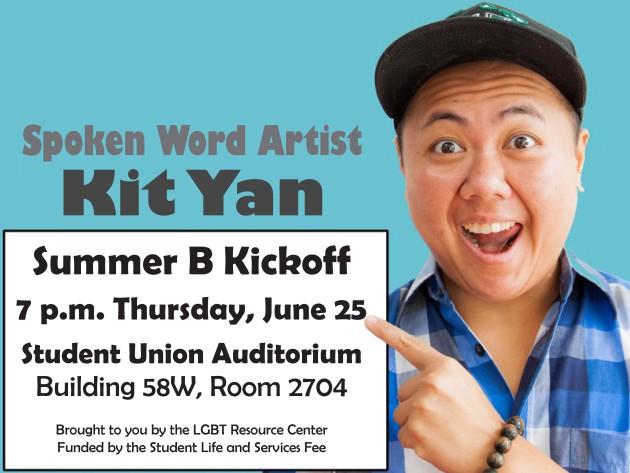 Transgender slam poet Kit Yan to perform at UNF Student Union tomorrow