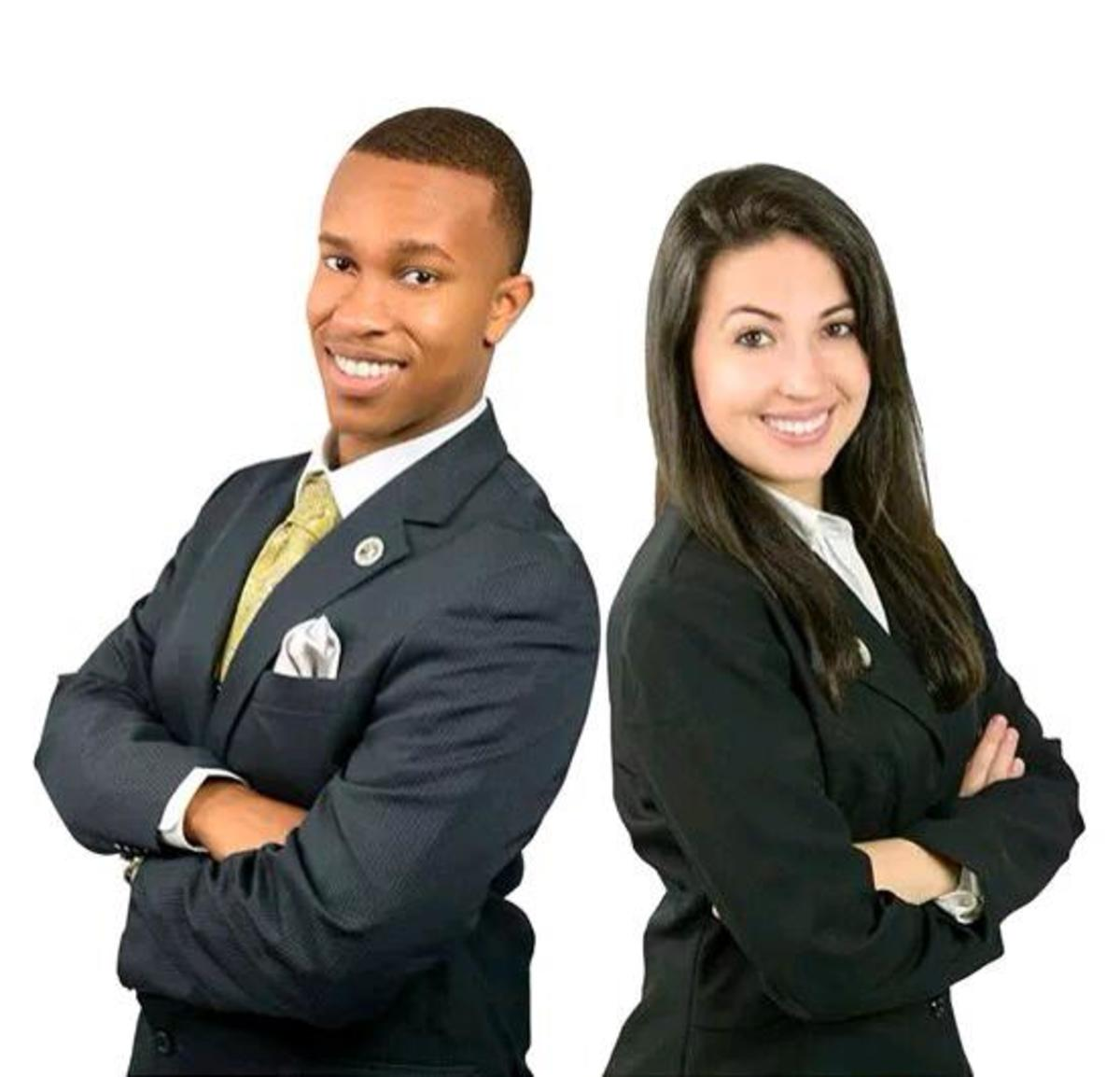 Gloster (left) and Guerra (right) posing for their United Party campaign at the end of Spring 2015.Photo courtesy Facebook