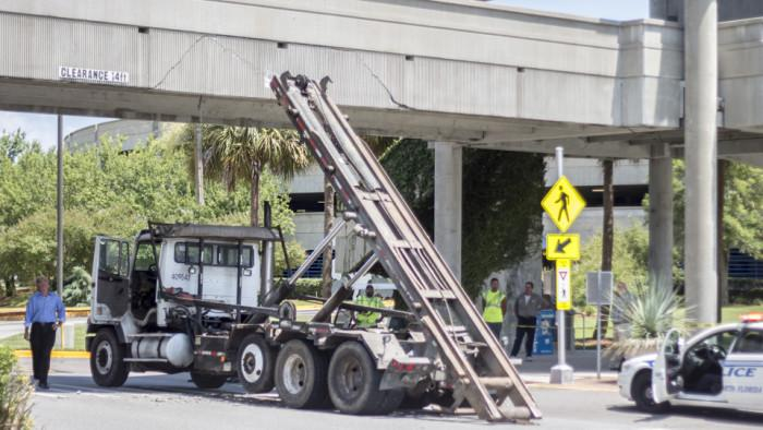 Truck collides with UNF Arena walkway