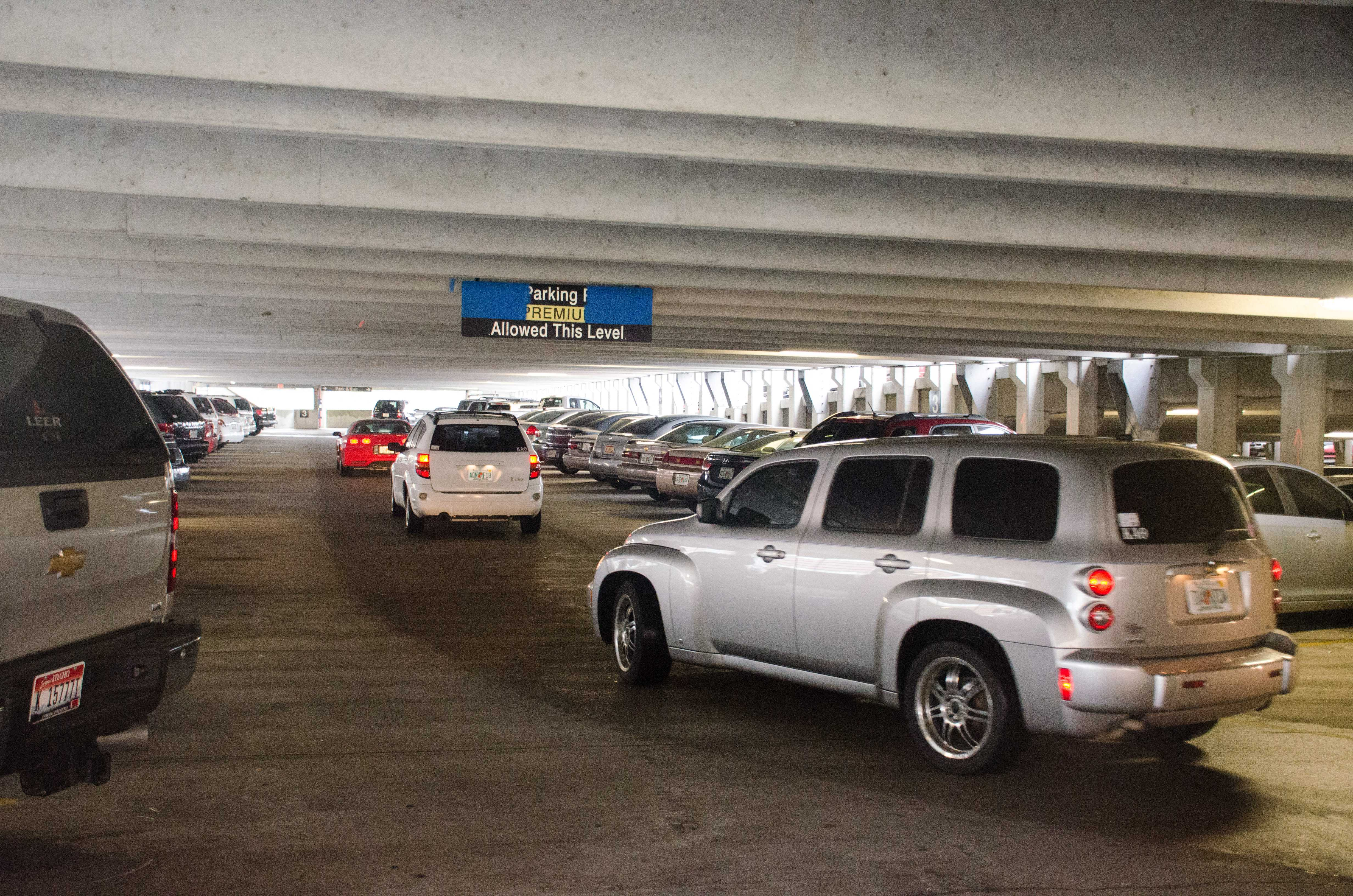 Reserved Spots: Less parking available in Arena Garage Thursday