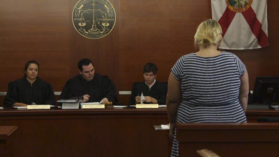 Dana Baker, attorney general, explaining the circumstances of the bill's violation.Photo by Michael Herrera