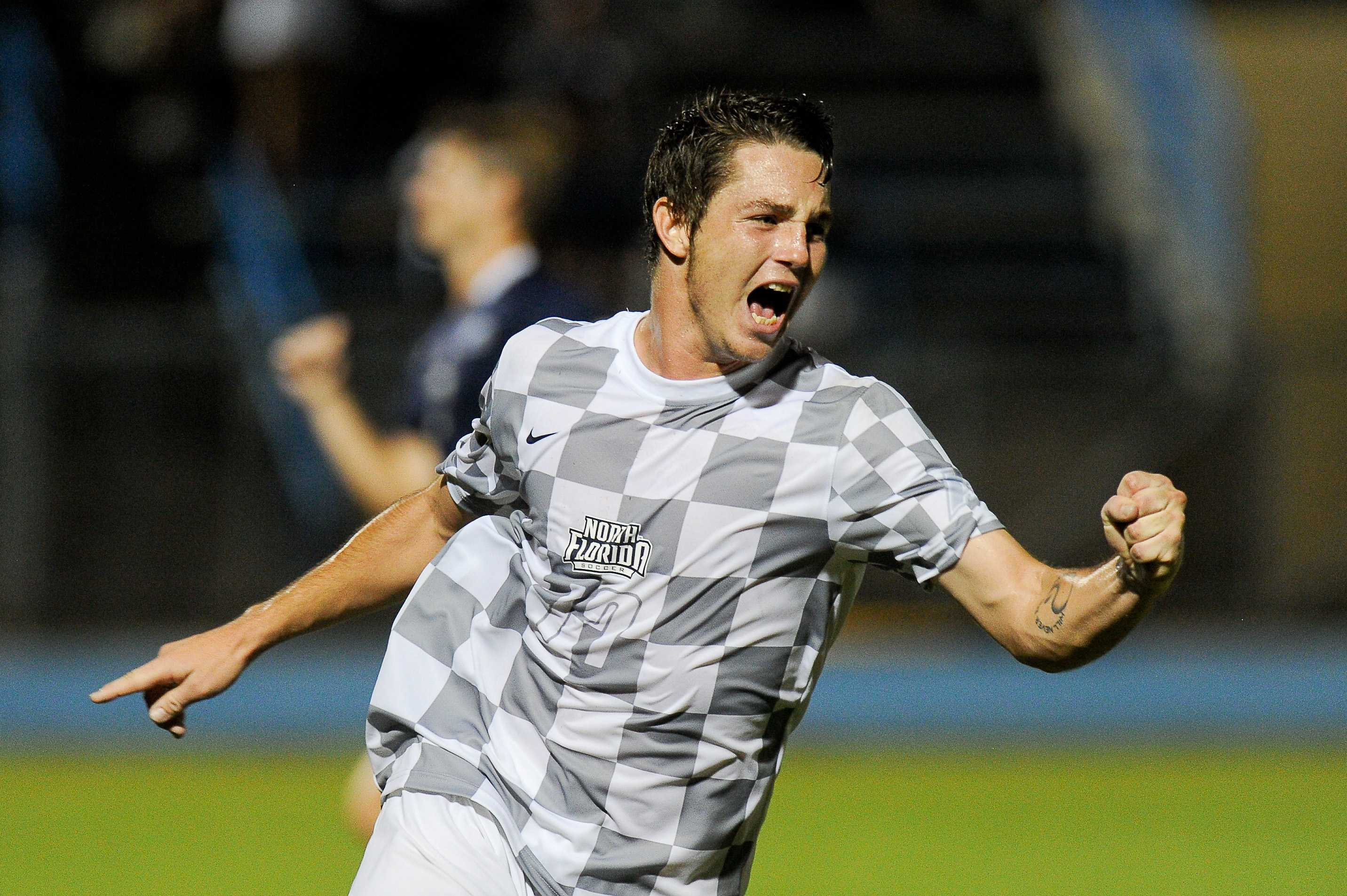 Midfielder Milan Kovacs has scored 3 goals for the Ospreys this season. <i>Photo courtesy of UNF Athletics.<i />