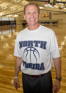 Matthew Driscoll, head men's basketball coach. Photo by Michael Herrera