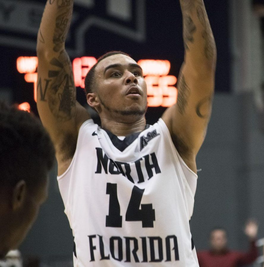 Dallas Moore has made UNF history multiple times. Photo by Christian Ayers