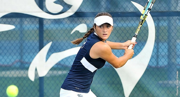 The women's tennis team is now 2-0 in Atlantic Sun play after a winning weekend.  Photo courtesy of UNF Athletics