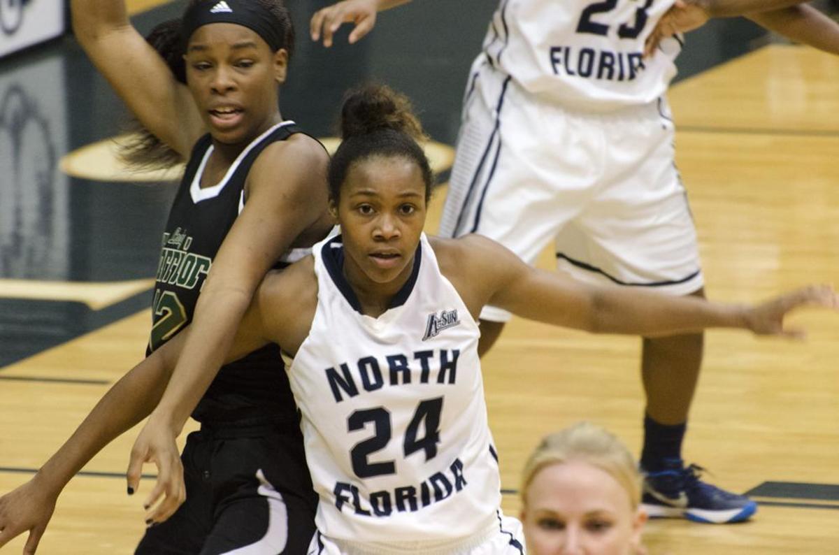 Osprey forward Maya Rumph led the game with a career-high 11 rebounds. Photo by Ashley Saldana
