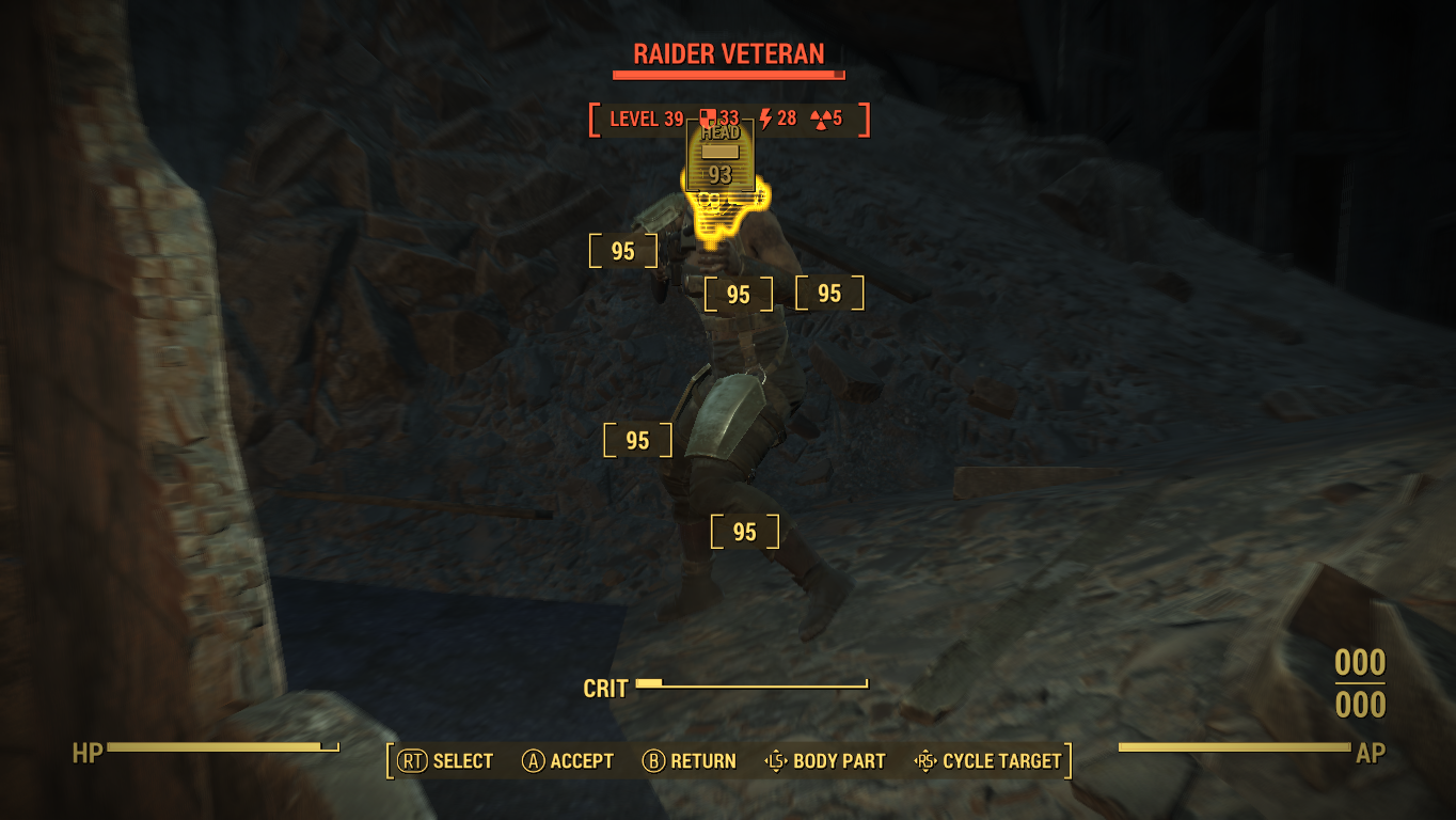 3.Fallout's V.A.T.S. (Vault-Tec Assisted Targeting System) combat mechanics are both more challenging and rewarding than in previous titles. Say goodnight, raider! Screen shot of Fallout 4 taken by Christian Ayers