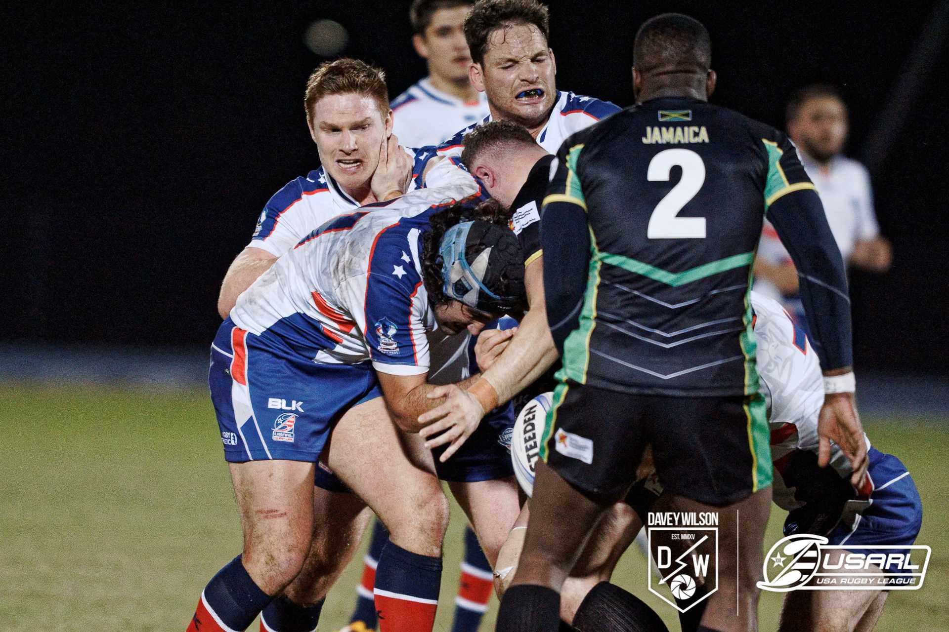 USA Hawks rugby team competes at Hodges Stadium, beats Jamaica 20-14