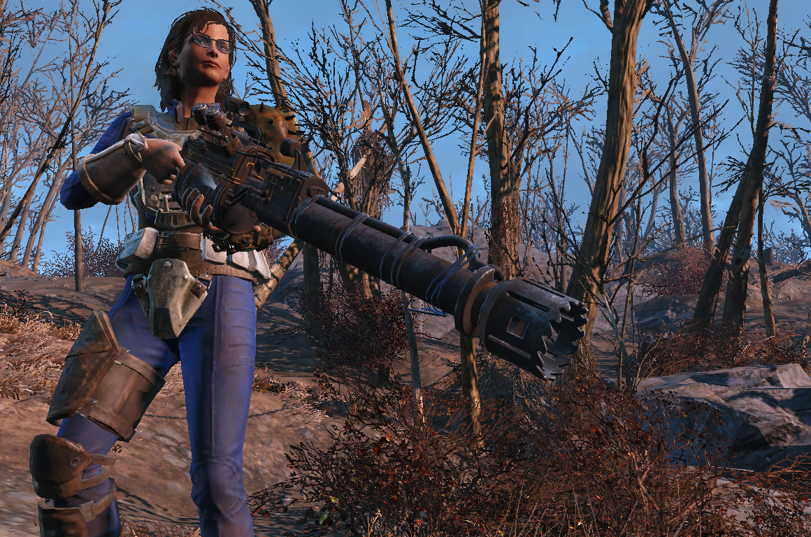 For my character Lydia, it's nice to get out of her power armor once in a while and enjoy that irradiated Commonwealth air. Screen shot of Fallout 4 taken by Christian Ayers