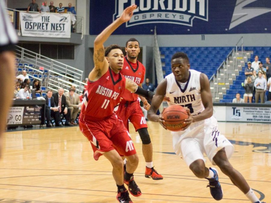 Starting guard Nick Malonga played for 13 minutes and finished with just 3 points.   Photo by Michael Herrera