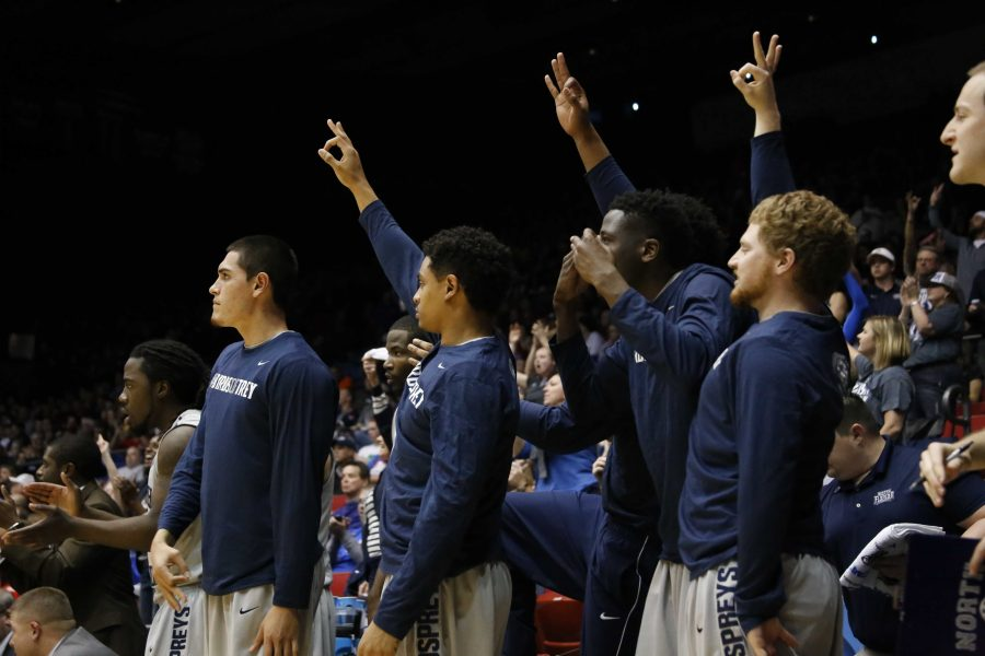 The Ospreys returned to Dayton, where they played against Robert Morris in their first ever NCAA tournament game.   Photo by Joshua Brangenberg
