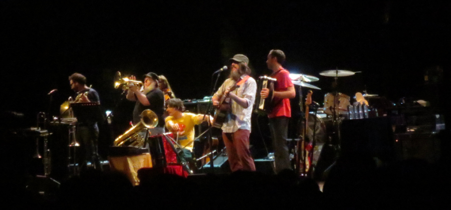 Neutral Milk Hotel perform in Brooklyn in 2014.   </i>Photo by Flickr user Vladimir</i>