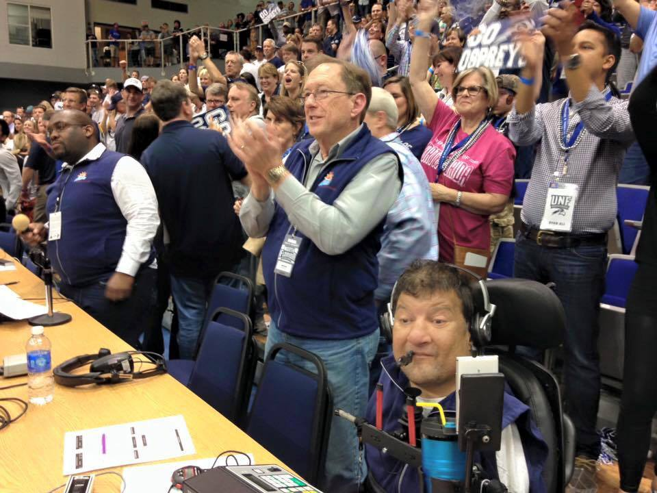 Bell operated the scoreboard for UNF Athletics for nearly 18 years.   <i>Photo courtesy of North Florida Ospreys via Lance Hunt</i>