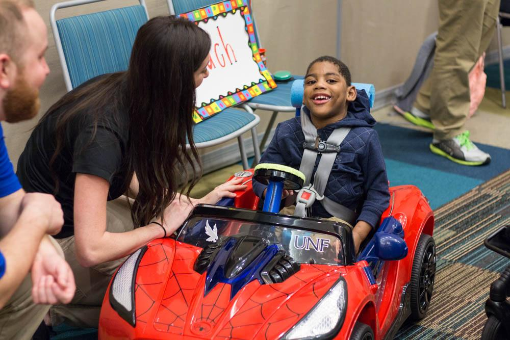 There are few available options when it comes to adaptive toys for children with disabilities, those on the market are considerably expensive. Photo by Michael Herrera