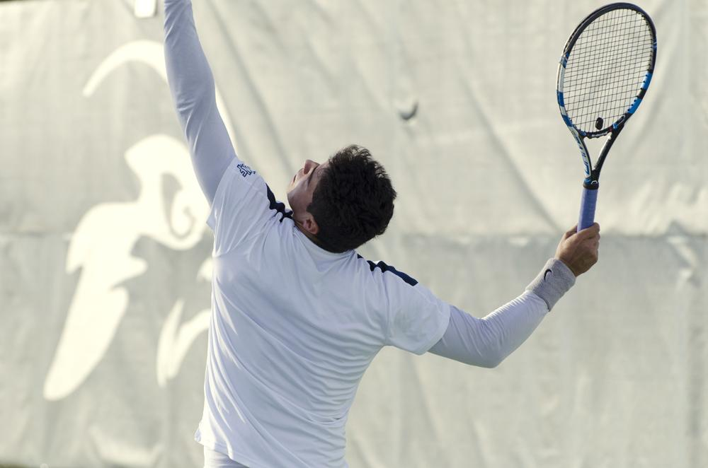 North Florida men's tennis split wet and cold home opener
