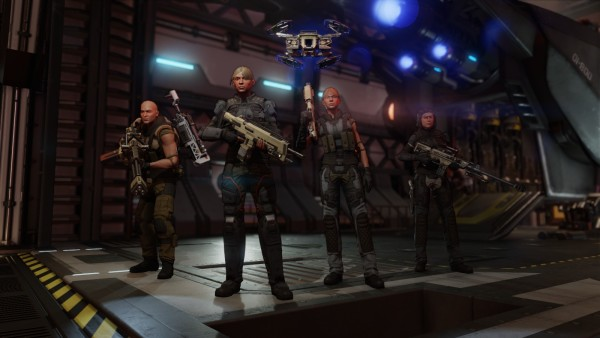 My main squad, who I felt a strong connection with, lookin' straight fire 'bout to get some aliens. Screenshot by John McCrone.