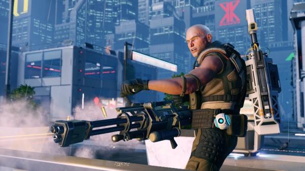My heavy showing off his huge gun! Screenshot by John McCrone.