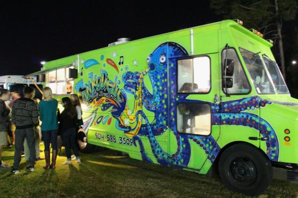 The Funkadelic food truck stood out at the carnival, and served up some mighty fine meaty cuisine. Photo by Brittany Moore.