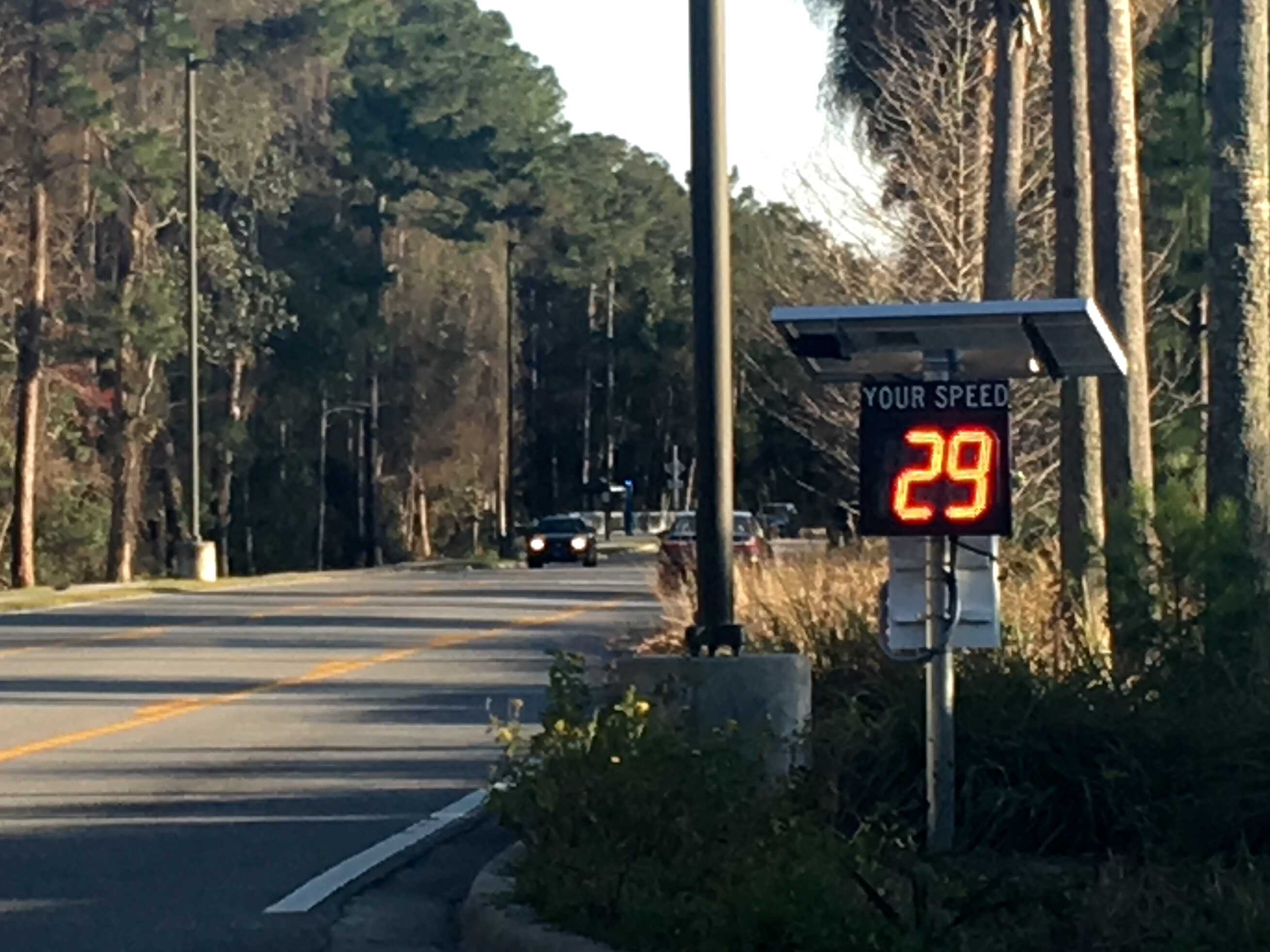 New speed radars on campus might slow your roll
