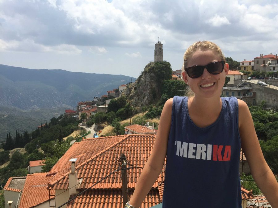 Photo takin of Dodd while on her study-abroad in Greece last summer.